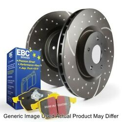 Ebc S5kf1686 Front S5 Kit Yellowstuff And Gd Rotors For 2011-2015 Chevy Camaro New