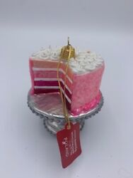 Sur La Table Layered Cake Pink Ornament New Free Shipping