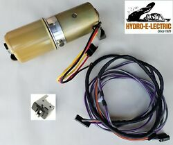 New 1969 Chevelle/malibu Convertible Top Motor Pump, Wiring And Switch W/ Housing
