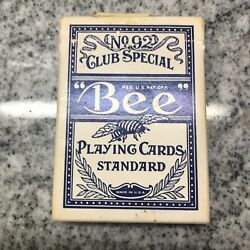 Vintage Bee Playing Cards Squeezers No.92 Deck W/ Box Sahara Tahoe Golden Nugget
