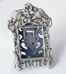 Vintage Solid Silver Italian Miniature Of A Photo Frame Hallmarked