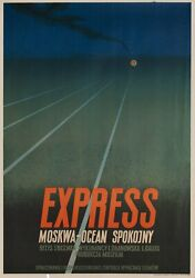 The Train Goes East R1953 Polish A1 Poster