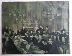 Antique Ww1 Print The Peace Conference G. Sheridan Knowles Gerlach-barklow 1919