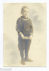 Boy W/ Cast Iron Paddle Wheel Boat Toy Still Bank 1918-1928andnbsp Photo A