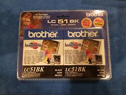 Brother Lc51 Black Ink Cartridges, 2/pack Lc-51bk2pkused Date October 2009