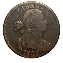 Large Cent/penny 1807 Sheldon 273 Overdate 7 Over 6 High Grade Wow