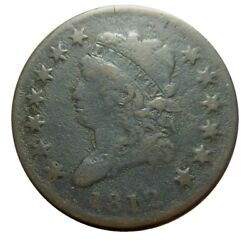 Large Cent/penny 1812 Small Date Ground Recovery