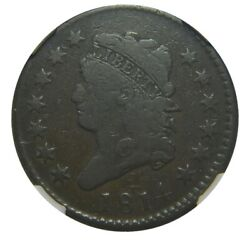 Large Cent/penny 1814 Sheldon 295 Mid Grade Choice And Slabbed