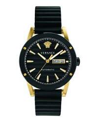 Versace Theros Men's Automatic Watch Day Date Black Pvd