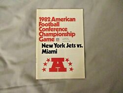1982 Afc Championship Game Media Guide Program Miami Dolphins Ny Jets 1983 Ad