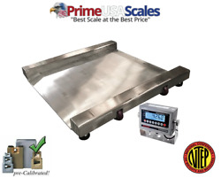 Prime Usa Op-917 Ntep Stainless Steel Washdown Drum Scale 1,000 Lb X .2 Lb