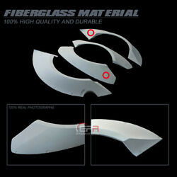 For 12-16 Nissan Gtr R35 Tp-style Frp Unpainted Front And Rear Fender Flares Trim