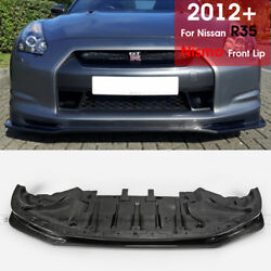 For Nissan Gtr R35 12-16 Late Nsmo-style Frp Front Bumper Lip Wing Body Kit