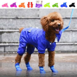 New Waterproof Dog Boots Puppy Shoes Protective Anti slip Apparel for Small Dogs