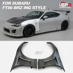 Frp Unpainted Ing Style Front Vented Fender Body Kits 2pcs For 13-16 Subaru Brz
