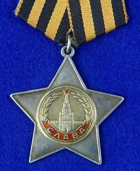 Soviet Russian Ussr Ww2 Silver Order Duplicate Glory 2 Cl Medal Badge Low 20015