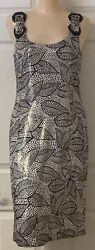 Tory Burch Metallic Evening Cocktail Party Dress NWOT Size 8 $495 Retail A2 1 $128.00