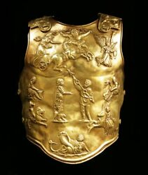 18 Guage Brass Medieval Armor Of Augustus Cuirass Gladiator Breastplate