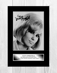 Dusty Springfield 3 A4 Reproduction Autograph Poster Choice Of Frame