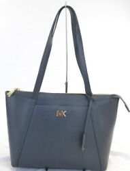 MICHAEL KORS Voyager Navy Leather Tote $258.00 #801SW $19.99