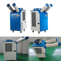 220v Industrial Air Conditioner Movable Cooler Two Rotary Pipes Cooling Spray