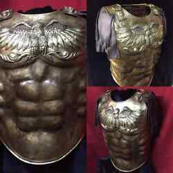 18 Guage Brass Medieval Armor Roman Cuirass With Eagle Knight Breastplate
