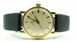 Vintage Omega 550 17j Automatic Silver Linen Dial 10kt Yellow Gold Filled Watch