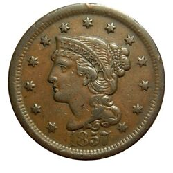 Large Cent/penny 1857 Large Date Higher Grade Collector Coin