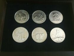 Canada 2011 - 2012 - 2013-. Six Onz Pure Silver 9999 Animals Collections .