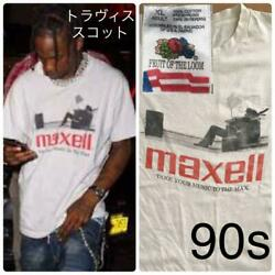 Maxell T-shirt 1990's Vintage White Size Xl From Japan Free Shipping
