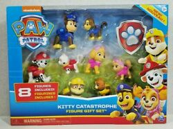Paw Patrol Kitty Catastrophe Chase Marshall Skye Rubble And Cats Figure Gift Set