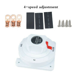 6-36v Dual Battery Selector Switch Disconnect Power Cut Off On For Marine Boat