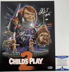 Ed Gale And Alex Vincent Dual Signed Childs Play 2 11x14 Photo Autographed Beckett