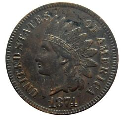 Indian Head Cent/penny 1874 Higher Grade Collector Coin