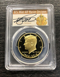2014 50c Kennedy Gold 50th Anniversary Pcgs Pr70dcam Thomas Cleveland Signed