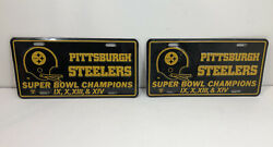 Pittsburgh Steelers Super Bowl Ix X Xiii And Xiv Champs License Plates
