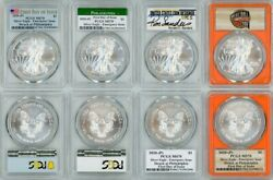 2020 P Silver American Eagle Set 4 Coins Emergency Issue Pcgs Ms70 Fdoi