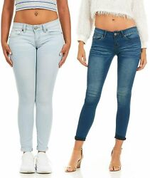 Cg Jeans Womenand039s Juniors Big Plus Size Large Skinny Fit Cuffed Acid Washed