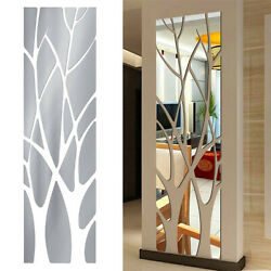 Removable Mirror Tree Decal Art Mural Wall Stickers Home Living Room DIY Decor