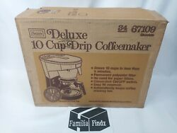 Vintage Sears Roebuck And Co Deluxe 10 Cup Drip Coffeemaker 34 67209 Chocolate 70s