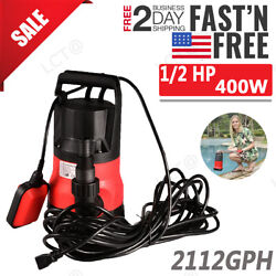 1 2 HP 400W Super Electric Submersible WateR Swimming Pool Dirty Flood Sump Pump