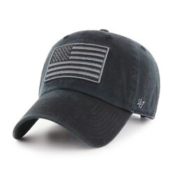 Operation Hat Trick Oth Generic Usa Flag And03947 Brand Mens Black Clean Up Hat