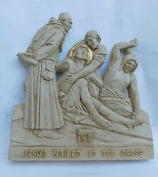 New Modern Size Station Of The Cross In A Gold And Antique Finish