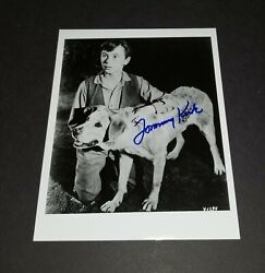 Tommy Kirk And Old Yeller Autograph / Signed Glossy B/w 8 X 10 Photograph