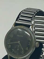 Helma Ww2 German Officer Watch - Complete With Stainless Band
