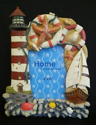 Home Fundamentals 3d Polystone Lighthouse 4 X 6 Photo Frame With Stand