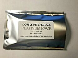 Double Hit Platinum Pack Baseball 1 Psa Graded 1 Autograph Or Relic Card + More