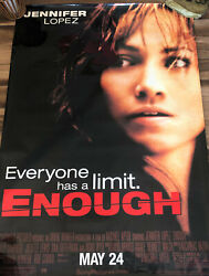 2002 Columbia Pictures Enough Jennifer Lopez Official Movie Poster 69 X 47