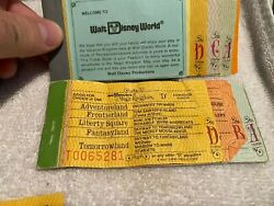 Walt Disney World Ticket Books - Large And Small Tickets - Make Offer