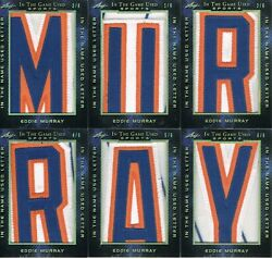 2019 Eddie Murray Itg Used Sports In The Name Letters Gold Set Murray 1/6-6/6